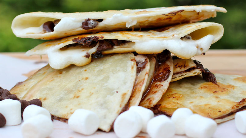Quesadillas de S'mores