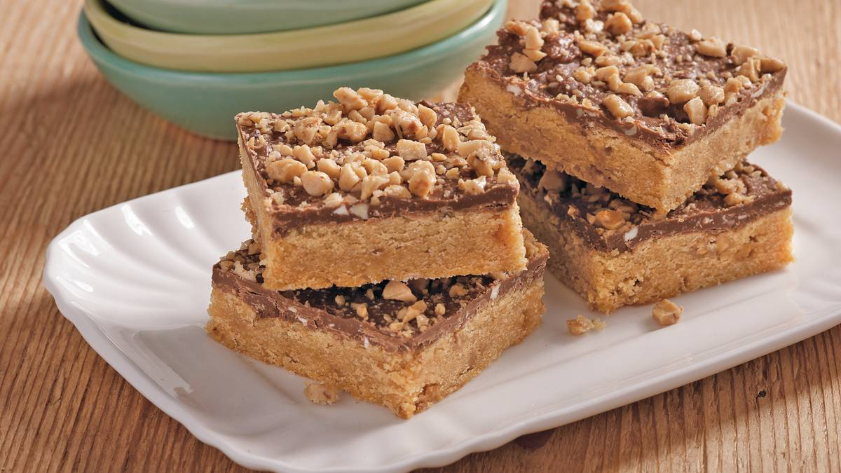 Gluten-Free Toffee Peanut Butter Bars