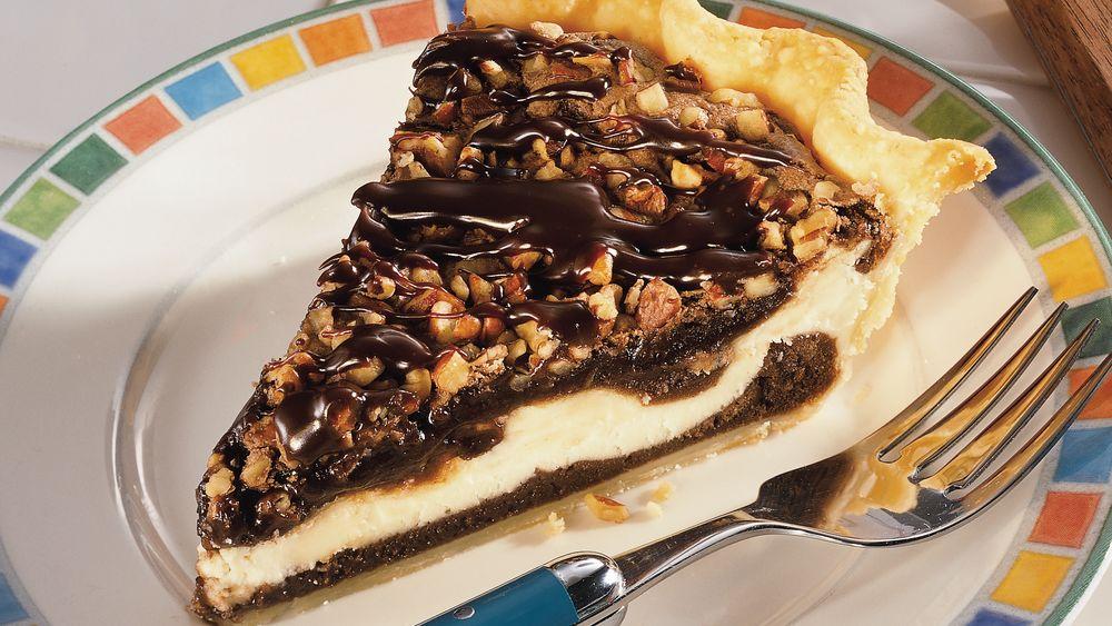 Cream Cheese Brownie Pie