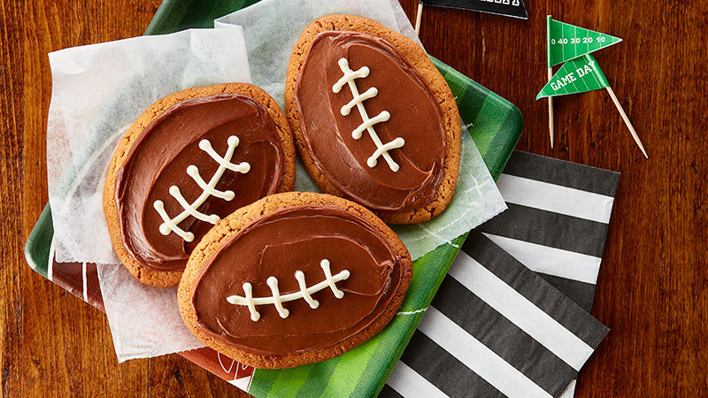 Game-Time Peanut Butter Football Cookies