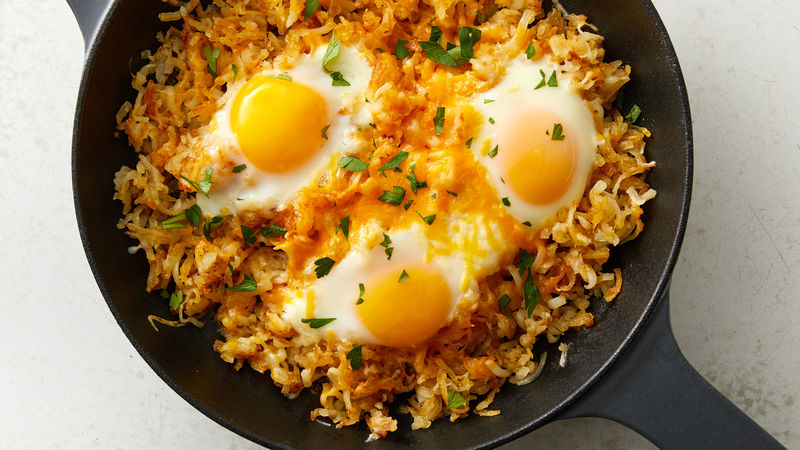 3-Ingredient Egg Breakfast Skillet