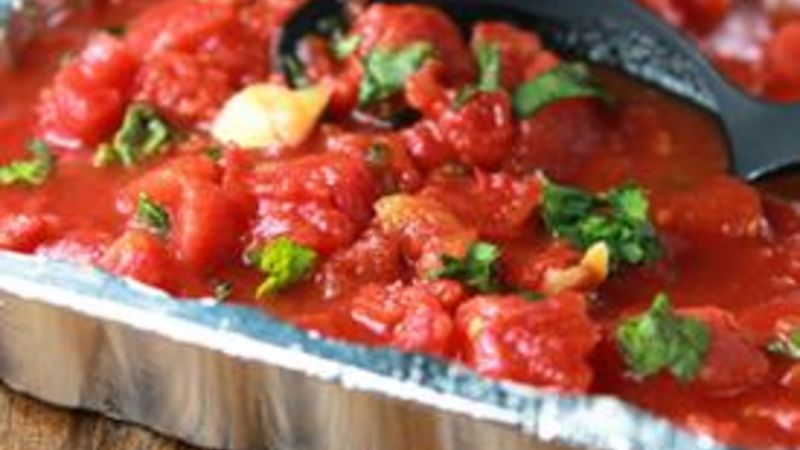 Roasted Tomato Basil Sauce on the GRILL