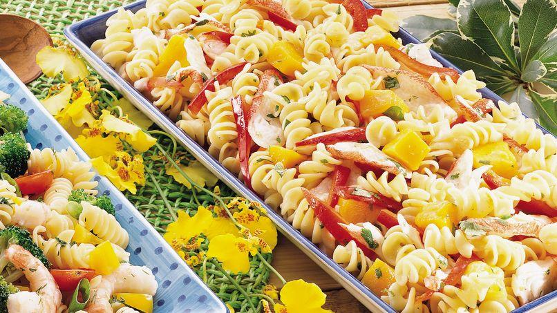 Caribbean Crabmeat Pasta Salad