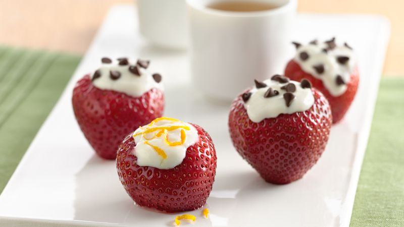 Yogurt Filled Strawberries