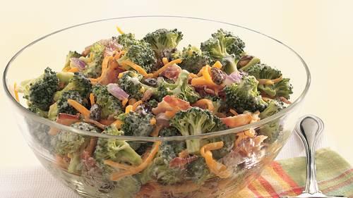 Broccoli Salad Recipe Bacon Cheese Mayonnaise