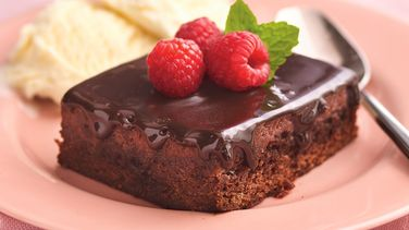 Warm and Fudgy Raspberry Pudding Cake