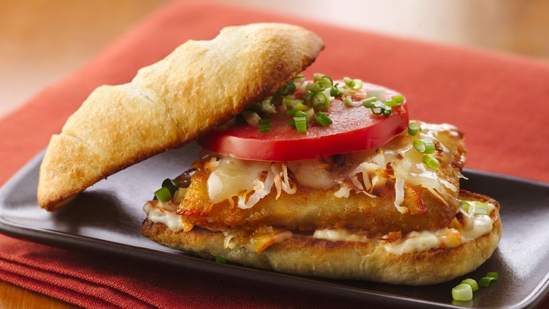 Orange-Coconut Fish Po'Boys