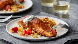 Southwest Salmon with Cilantro-Lime Sauce (Cooking for 2)