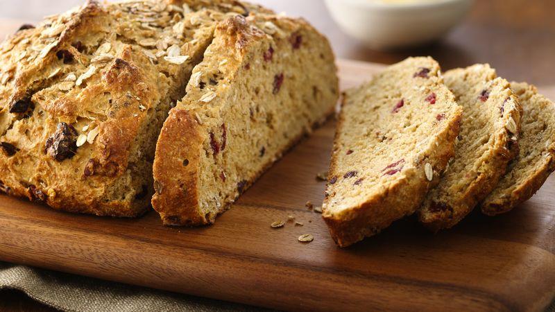 Five-Grain Buttermilk-Cranberry Bread (White Whole Wheat Flour)