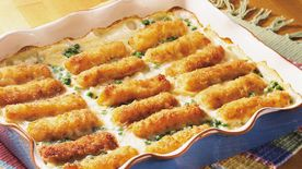 Scalloped Fish Stick Casserole