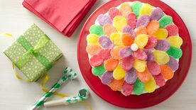 Simple Gum Drop Flower Cake
