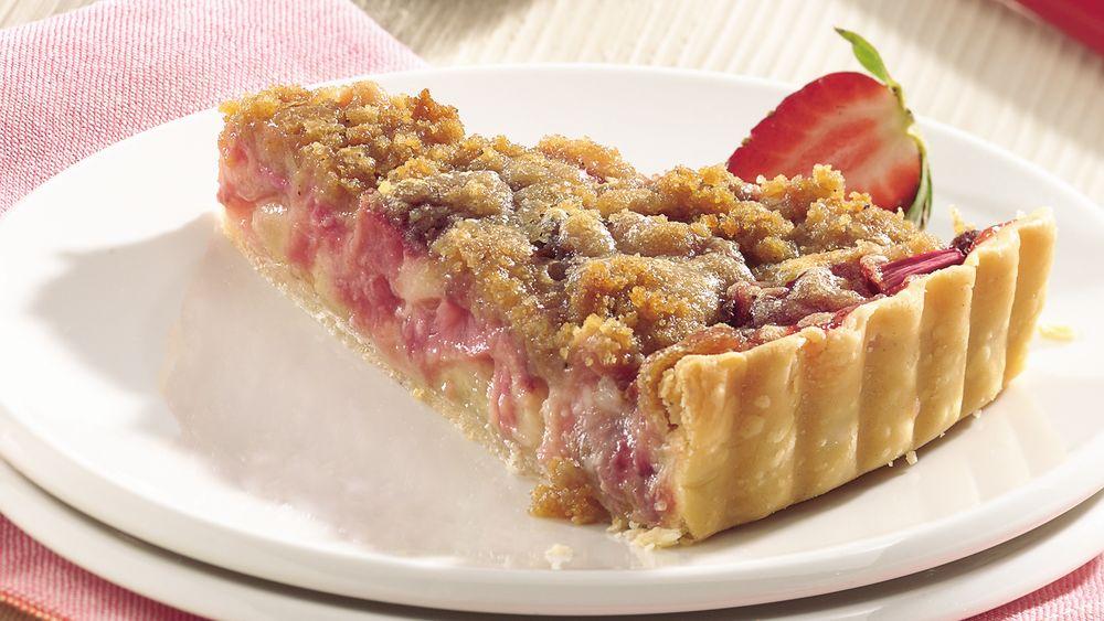Rhubarb-Strawberry Tart