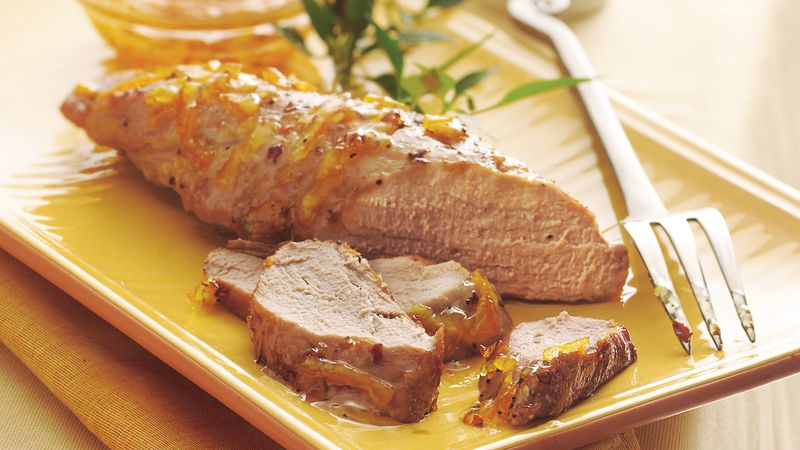 Fiery Orange-Glazed Pork Tenderloin