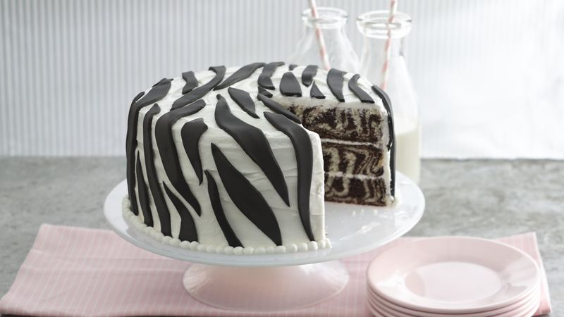 Zebra Layer Cake