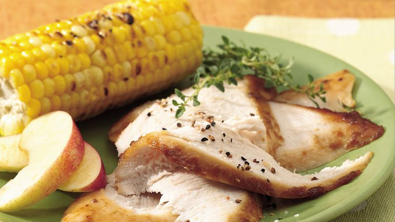 Grilled Turkey Breast with Honey-Apple Glaze