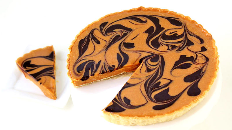 Double Chocolate Pumpkin Swirl Tart