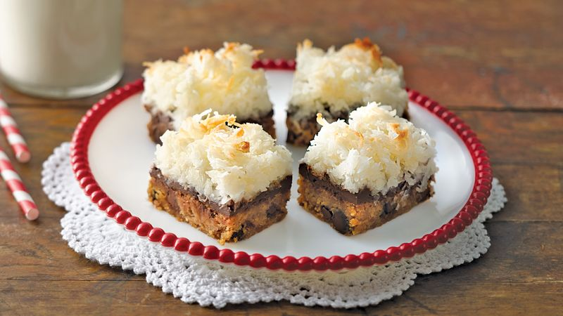 Browned Butter Blondies with Macaroon Topping