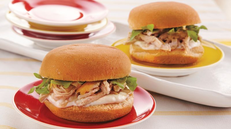 Slow-Cooker Rosemary Pork Sliders