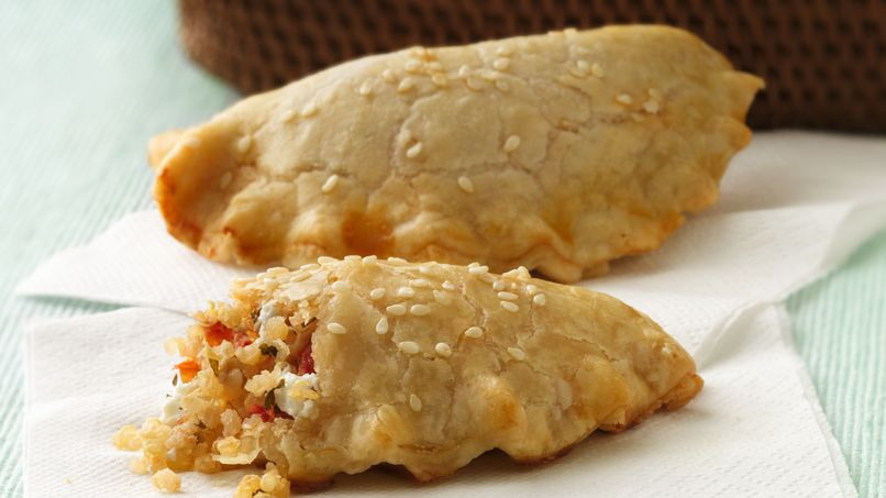 Quinoa and Goat Cheese Empanaditas
