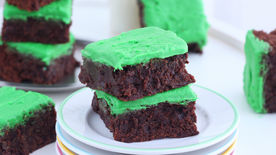 Frosted Mint Chocolate Brownies
