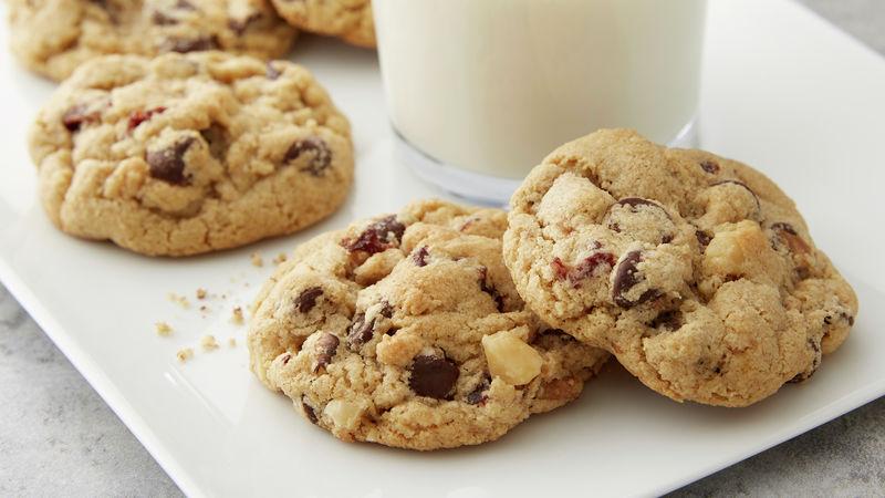 Cherry, Walnut, Dark Chocolate Chip Oat Flour Cookies
