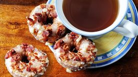 Maple Apple Bacon Mini Donuts