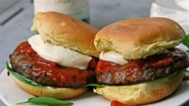 Margherita Pizza Burger