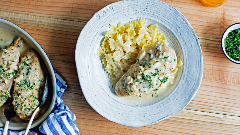Slow-Cooker Creamy Garlic Chicken