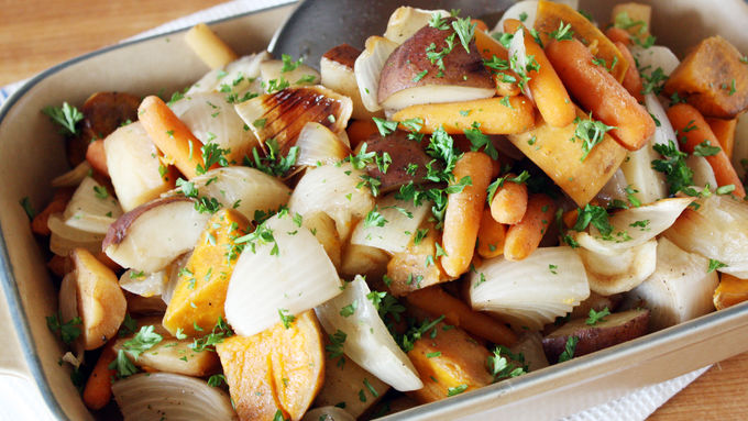 Slow-Cooker Balsamic Root Veggies