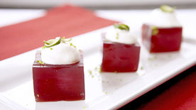 Pomegranate Margarita Jello Shots