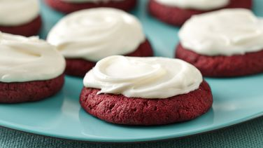 Frosted Red Velvet Sugar Cookies
