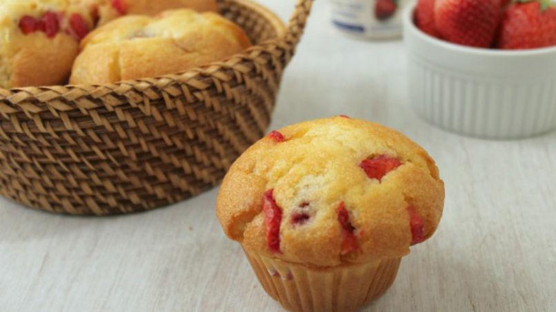 Strawberry Valentine's Muffins