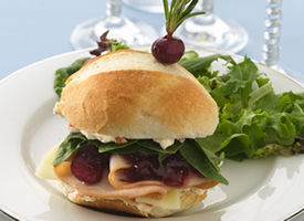 Turkey-Cranberry Petite Sandwiches