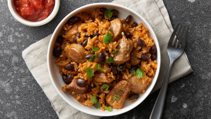 Instant Pot® Cuban Pork Tenderloin with Rice and Beans