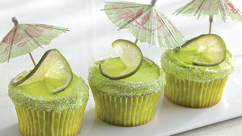 Marvelous Margarita Cupcakes Recipe Bettycrocker Com Birthday Cards Printable Giouspongecafe Filternl