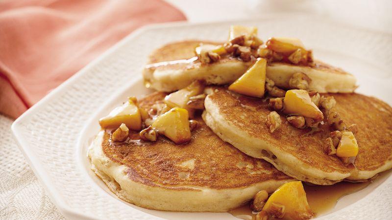 Praline Peach Pancakes