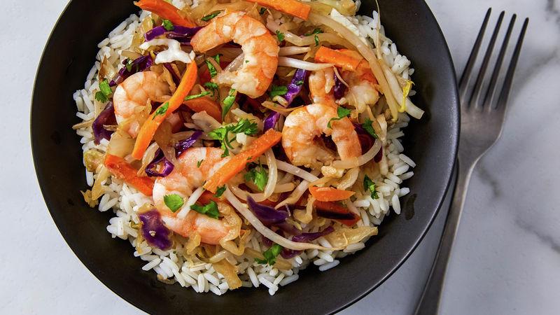 Easy Shrimp Stir-Fry for One