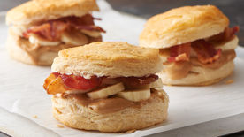Peanut Butter-Bacon-Banana Biscuit Sandwiches