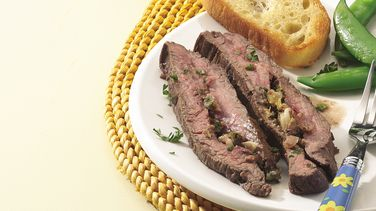 Herb-Stuffed Grilled Flank Steak