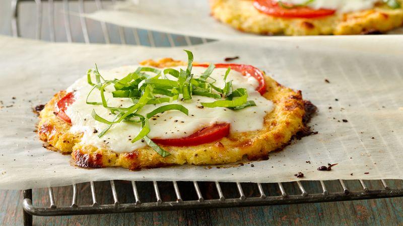 Gluten-Free Grain Free Caprese Mini Pizzas