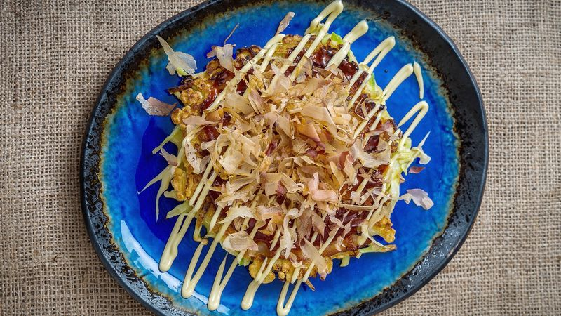 Savory Japanese Pancakes Okonomiyaki Recipe Tablespoon