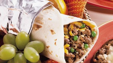 Rice and Hamburger Wraps