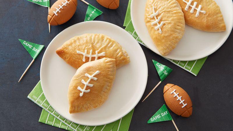 Mini Football Buffalo Chicken Calzones