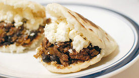 Beef and Black Bean Arepas