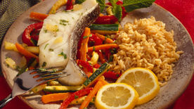 Sea Bass with Vegetable Melange