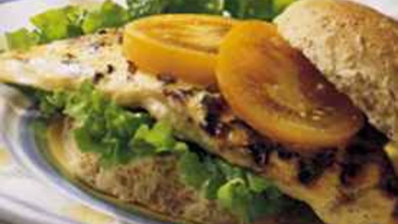 Grilled Honey-Mustard Turkey Sandwiches