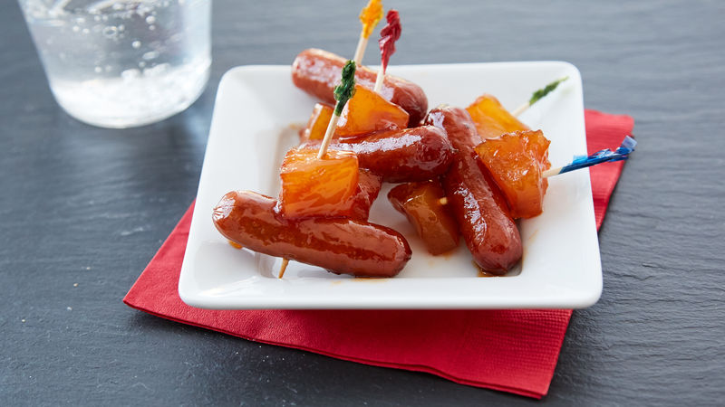 Slow-Cooker Pineapple Glazed Cocktail Sausages