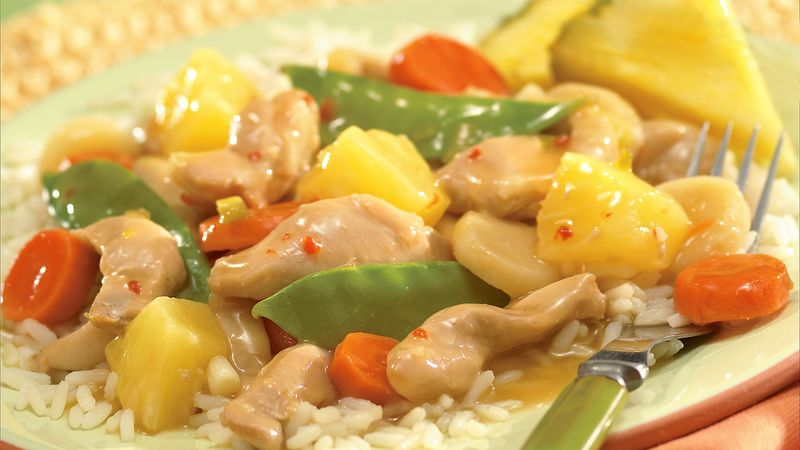 Slow Cooker Chicken And Vegetables With Pineapple Recipe