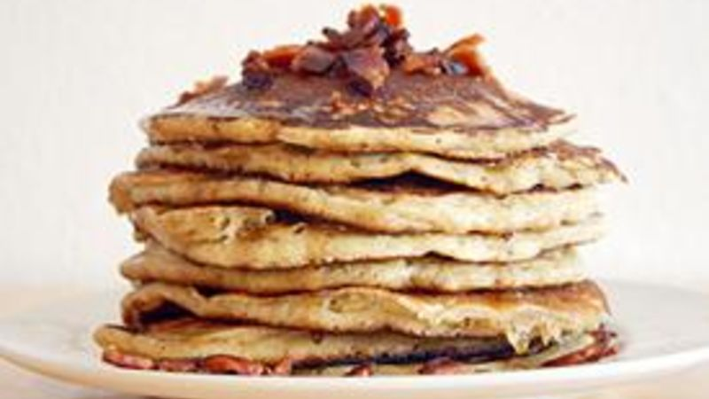 Bourbon Bacon Pancakes