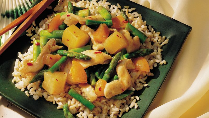 Hot-and-Sweet Apricot Chicken